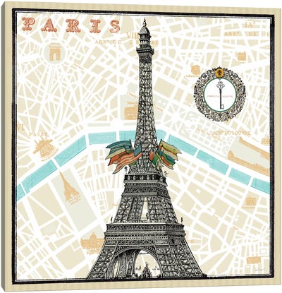 Monuments des Paris Eiffel  Canvas Print #WAC1848