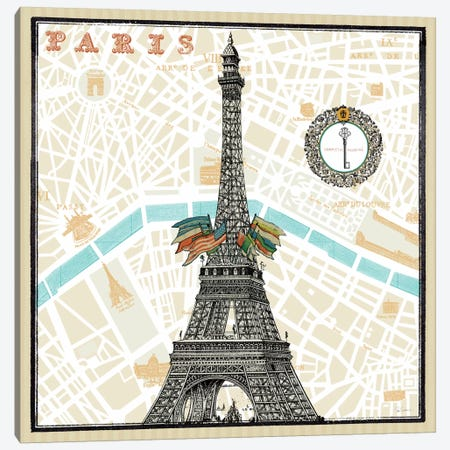 Monuments des Paris Eiffel  Canvas Print #WAC1848} by Sue Schlabach Canvas Print