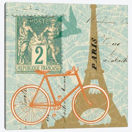 Postcard from Paris Collage  Canvas Print #WAC1850} by Sue Schlabach Canvas Artwork