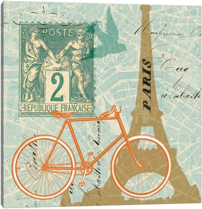 Postcard from Paris Collage Canvas Art Print