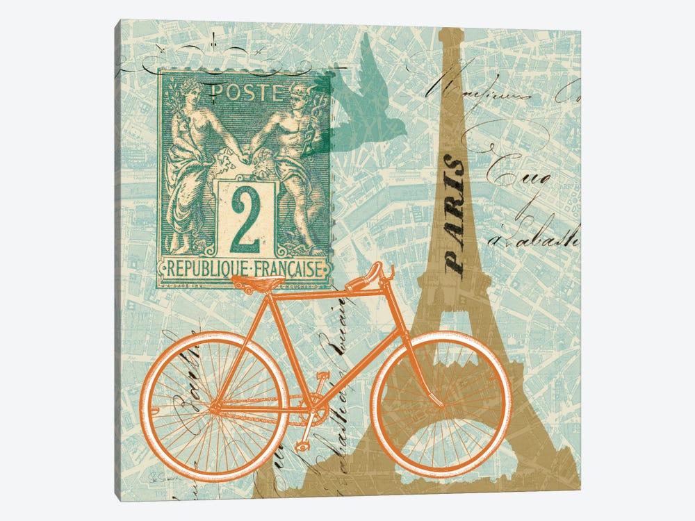 Postcard from Paris Collage  by Sue Schlabach 1-piece Canvas Wall Art