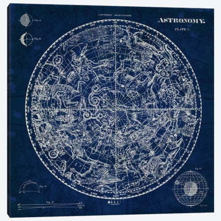 Celestial Blueprint  Canvas Print #WAC1851} by Sue Schlabach Canvas Wall Art