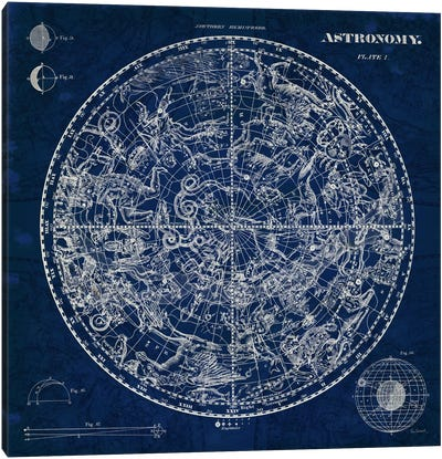 Celestial Blueprint  Canvas Art Print
