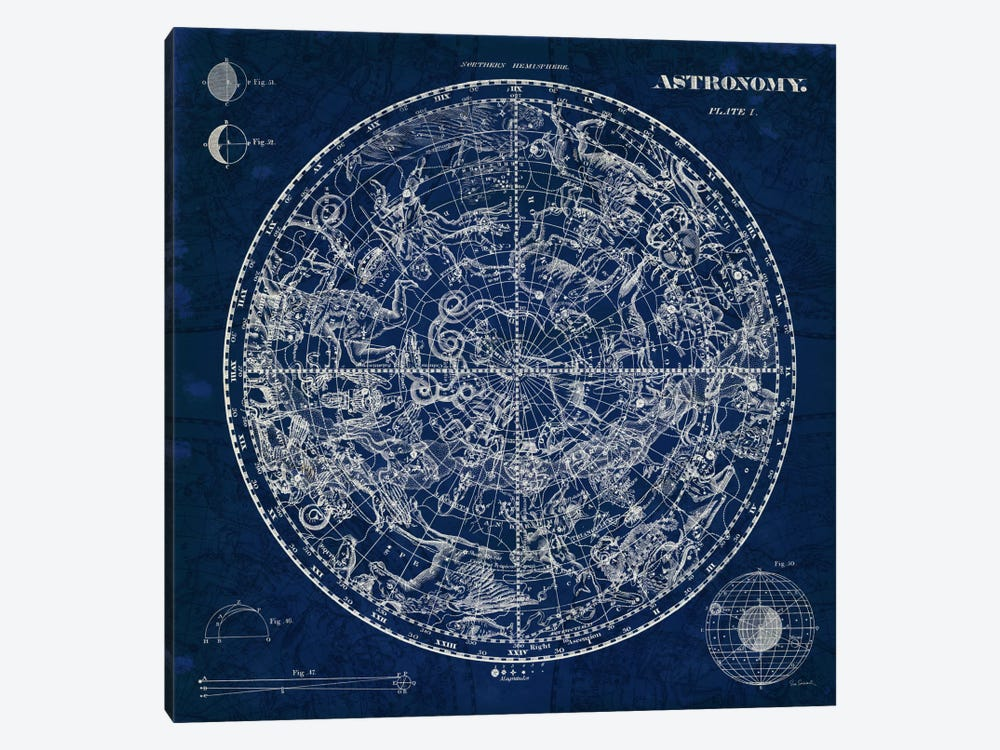 Celestial Blueprint by Sue Schlabach 1-piece Canvas Print
