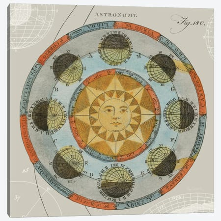 Solar Calendar  Canvas Print #WAC1853} by Sue Schlabach Canvas Artwork