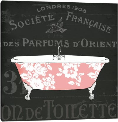 Chalkboard Bath II  Canvas Art Print