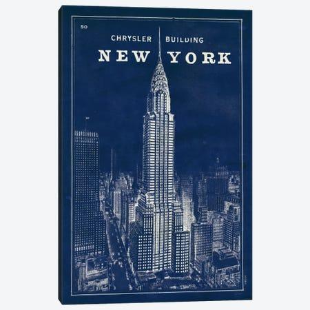 Blueprint Map New York Chrysler Building  Canvas Print #WAC1857} by Sue Schlabach Canvas Art Print