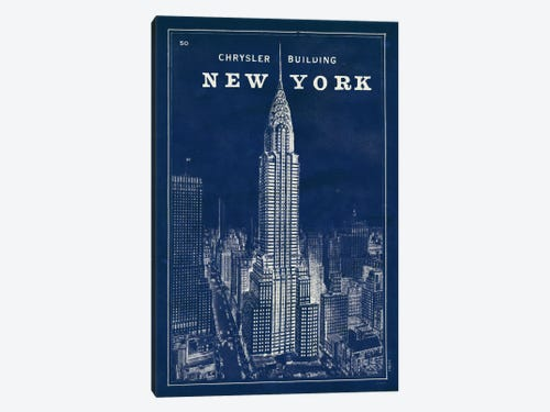 Blueprint map new york chrysler building canv sue schlabach blueprint map new york chrysler building 1 piece canvas art print malvernweather Gallery