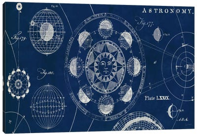 Blueprint Astronomy  Canvas Art Print