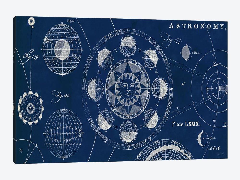 Blueprint Astronomy  by Sue Schlabach 1-piece Canvas Wall Art