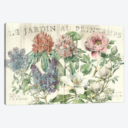 Le Jardin Printemps  Canvas Print #WAC1859} by Sue Schlabach Canvas Artwork