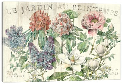 Le Jardin Printemps  Canvas Art Print