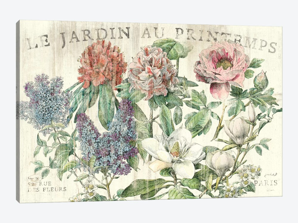 Le Jardin Printemps  by Sue Schlabach 1-piece Canvas Art Print