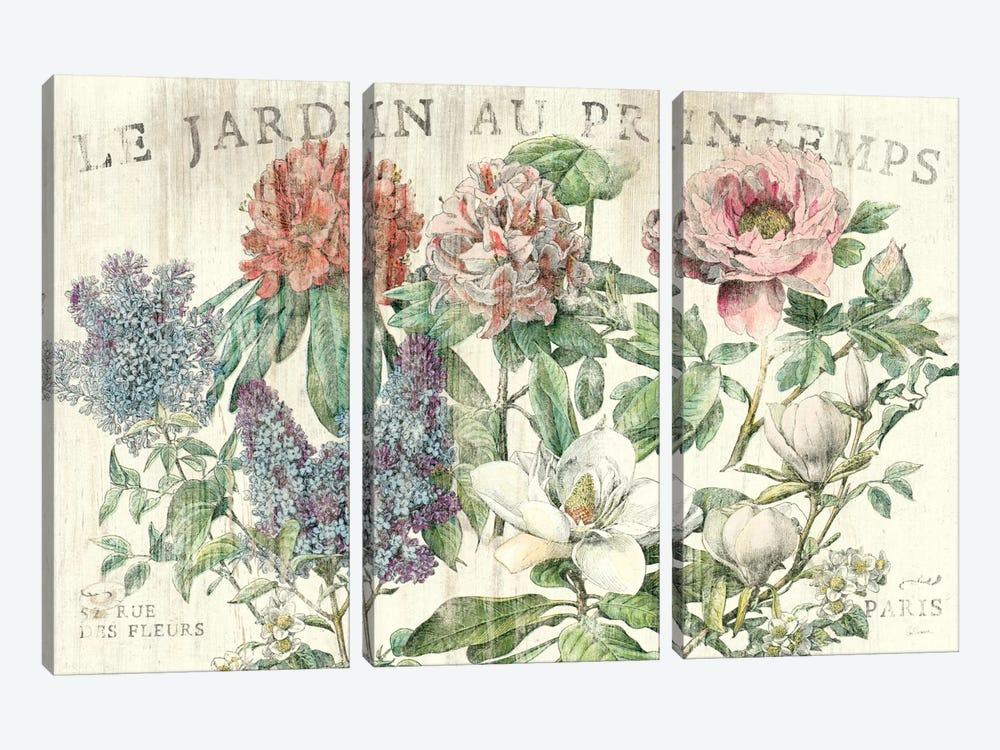 Le Jardin Printemps  by Sue Schlabach 3-piece Canvas Art Print