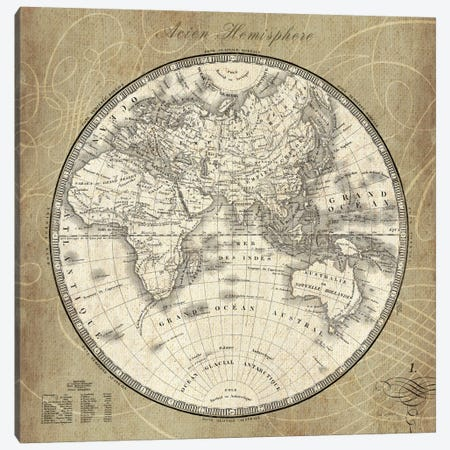 French World Map II  Canvas Print #WAC1860} by Sue Schlabach Canvas Print
