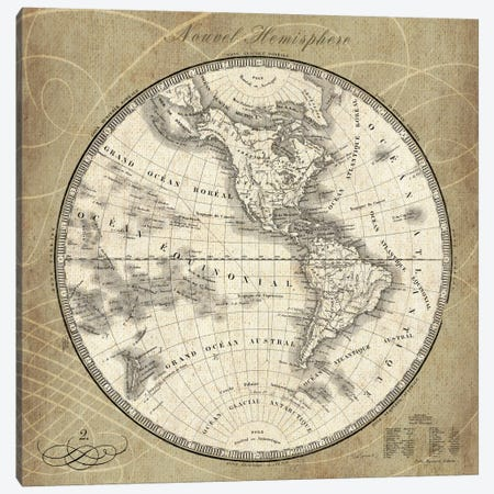 French World Map III  Canvas Print #WAC1861} by Sue Schlabach Art Print