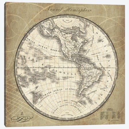 French World Map III  Canvas Print #WAC1861} by Sue Schlabach Art Print