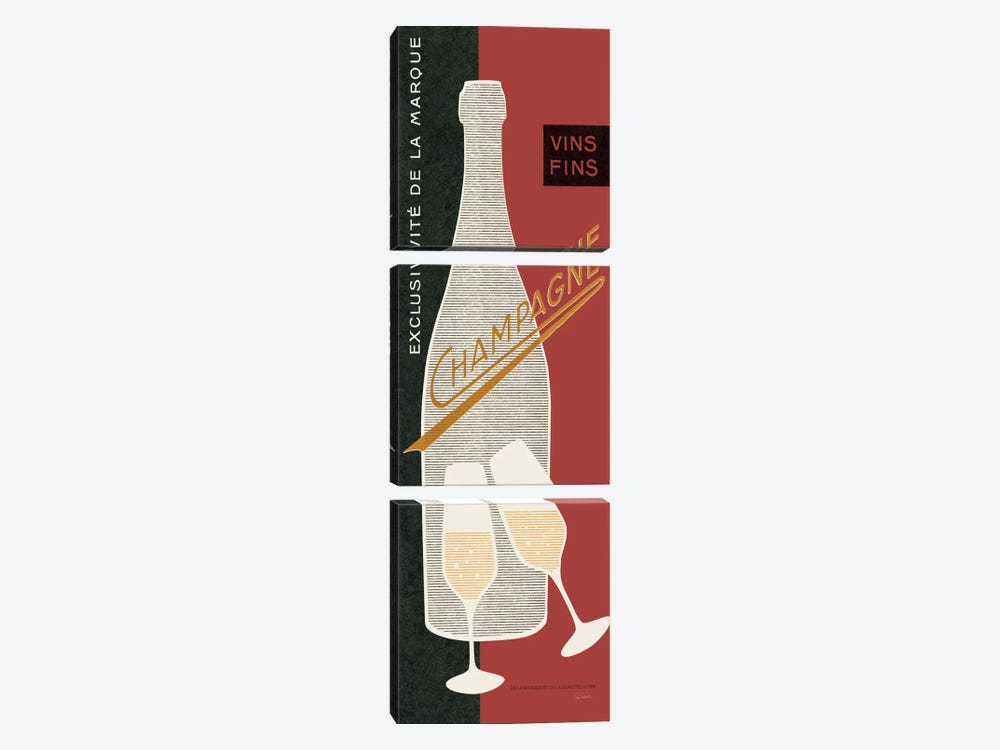 Champagne Toast  by Sue Schlabach 3-piece Art Print