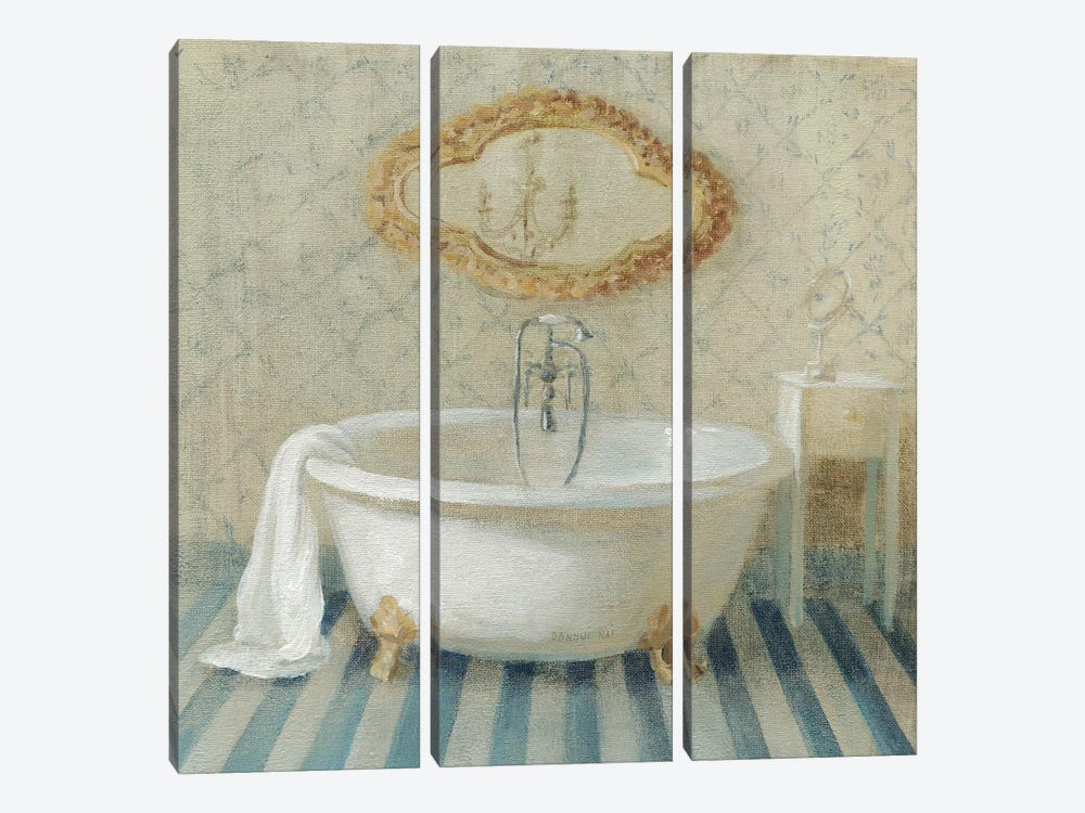 Victorian Bath II by Danhui Nai 3-piece Canvas Art Print
