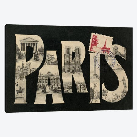 Postcard from Paris Canvas Print #WAC1879} by Wild Apple Portfolio Canvas Artwork