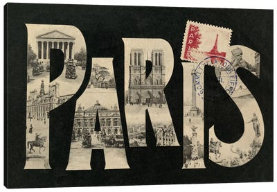 Postcard from Paris Canvas Art Print