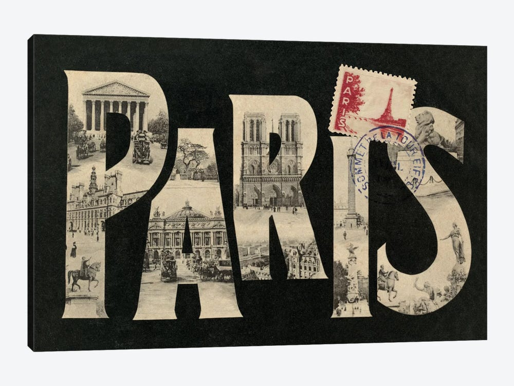 Postcard from Paris by Wild Apple Portfolio 1-piece Canvas Art Print