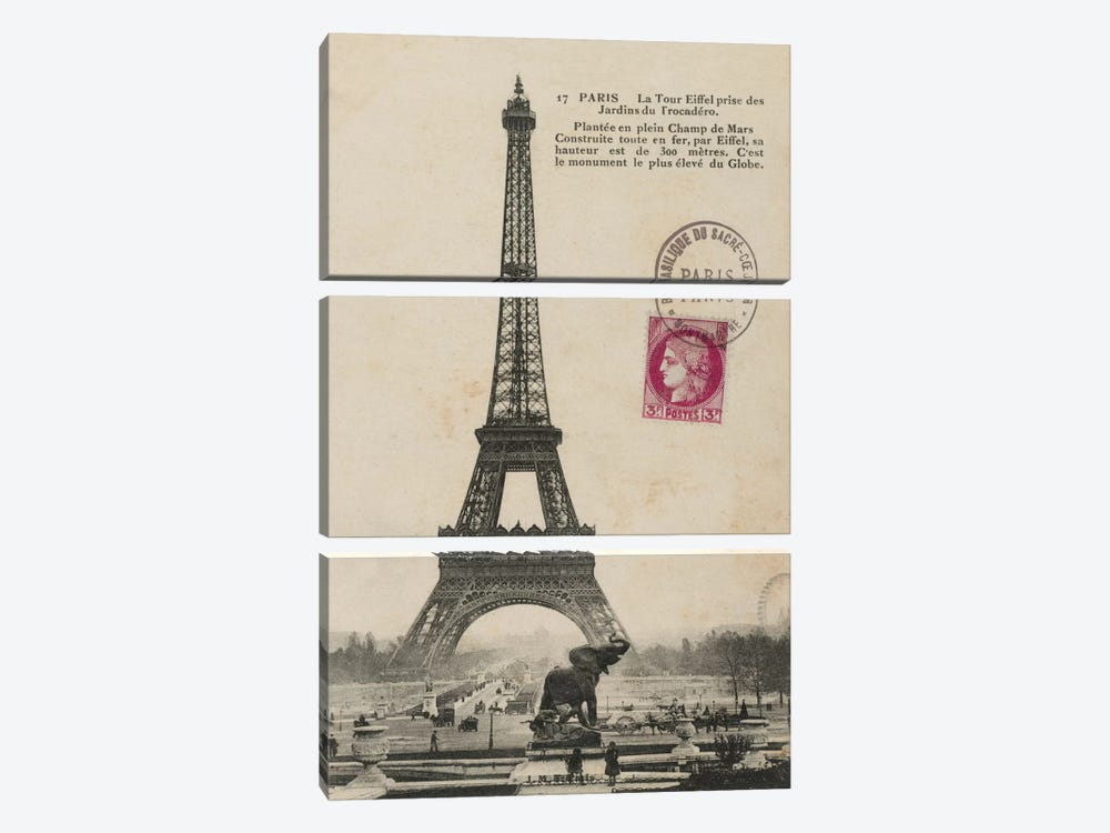 Paris 1900 by Wild Apple Portfolio 3-piece Canvas Print