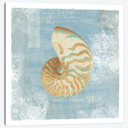 Listen to the Sea Canvas Print #WAC1897} by Wild Apple Portfolio Canvas Art Print