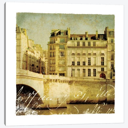 Golden Age of Paris III Canvas Print #WAC1900} by Wild Apple Portfolio Canvas Wall Art