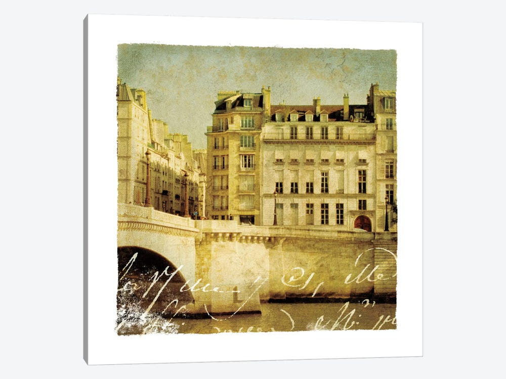 Golden Age of Paris III 1-piece Canvas Artwork