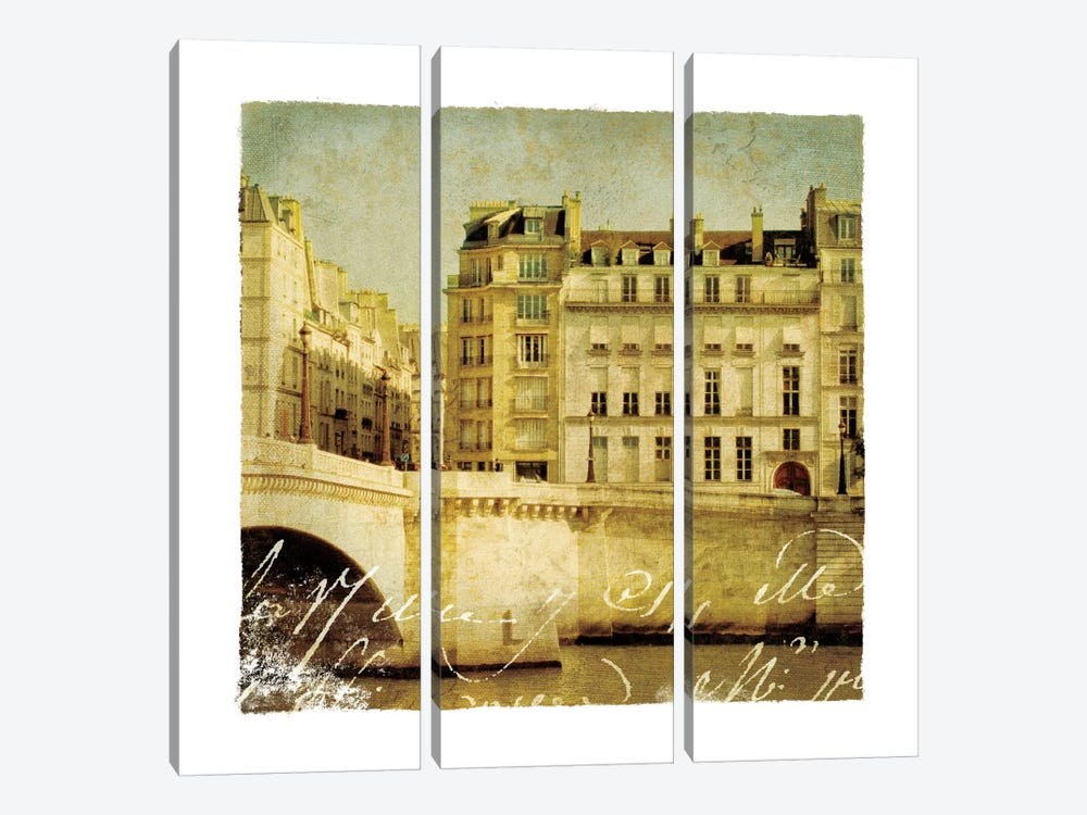 Golden Age of Paris III by Wild Apple Portfolio 3-piece Canvas Artwork