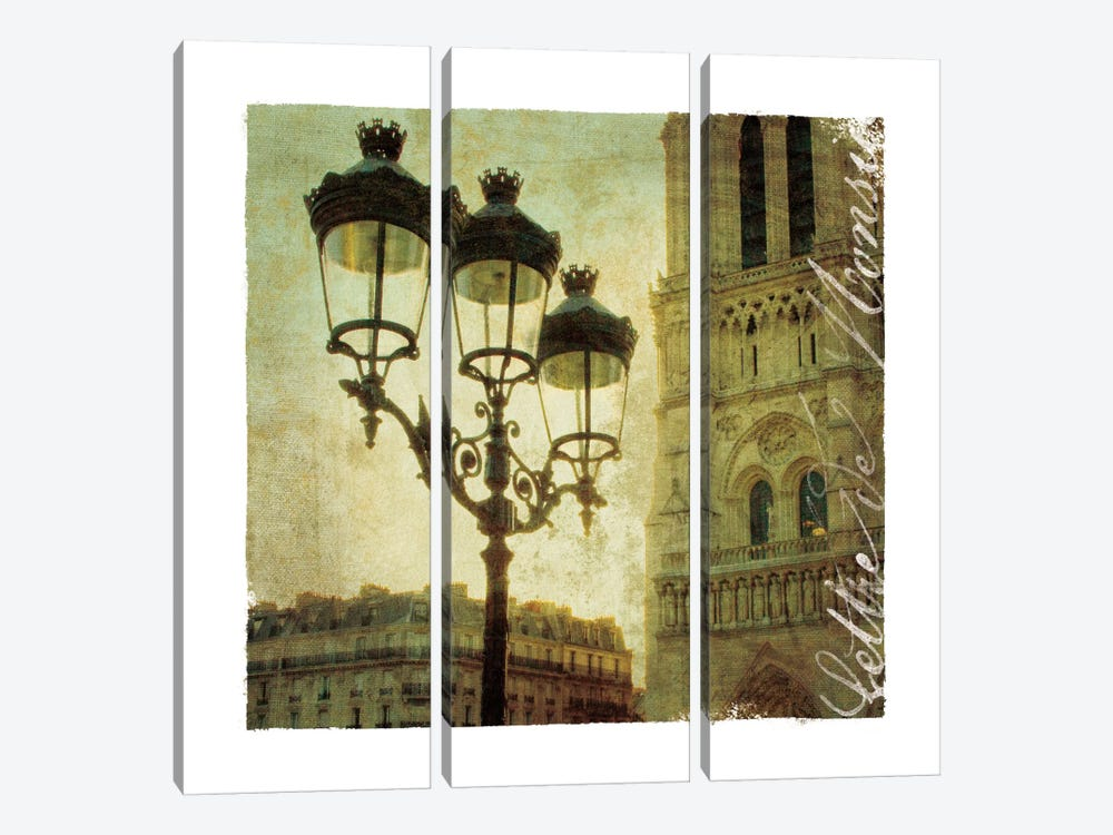 Golden Age of Paris IV 3-piece Canvas Print