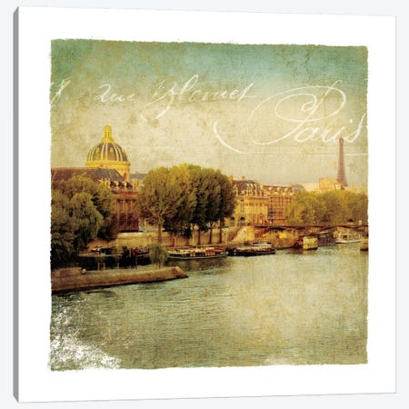 Golden Age of Paris V Canvas Print #WAC1902} by Wild Apple Portfolio Canvas Wall Art