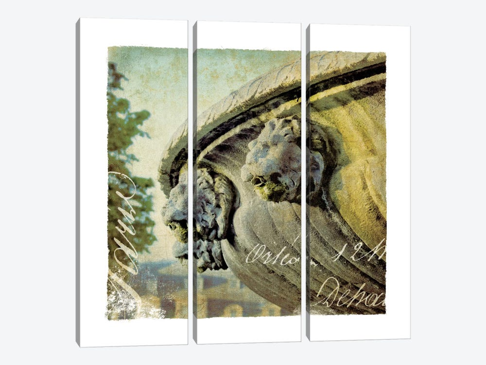 Golden Age of Paris VI 3-piece Canvas Art Print