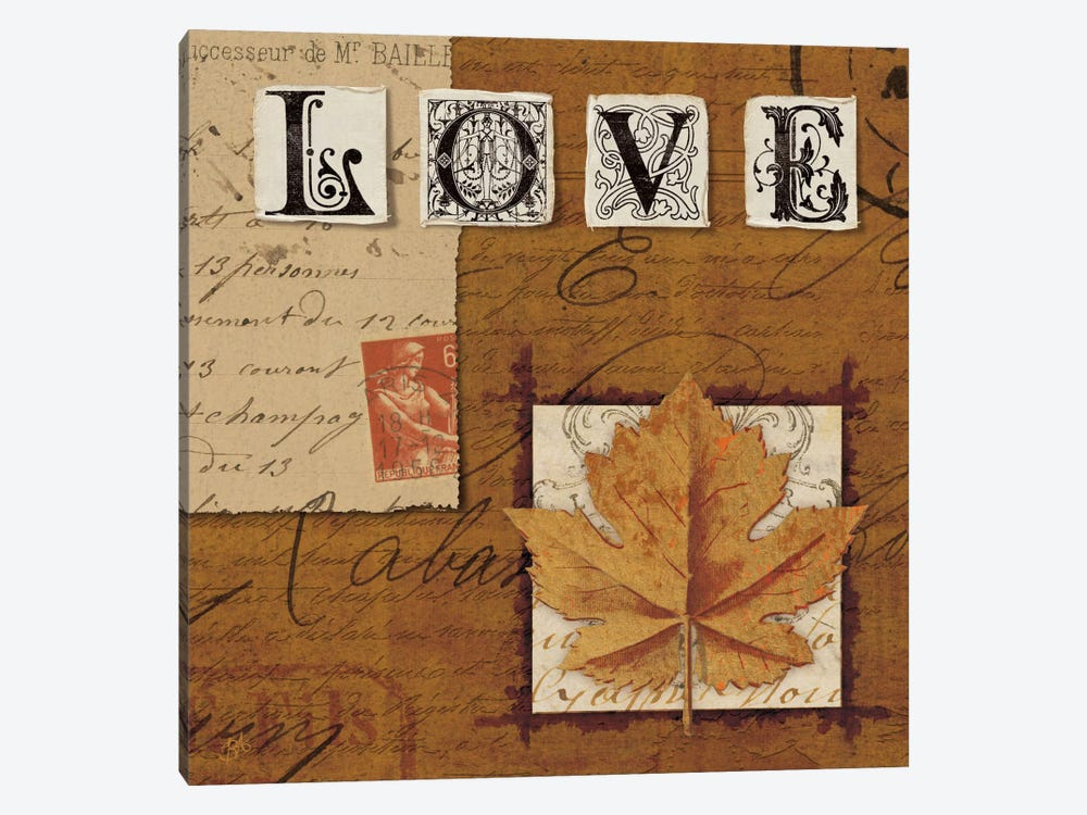Nature's Journal - Love 1-piece Canvas Wall Art