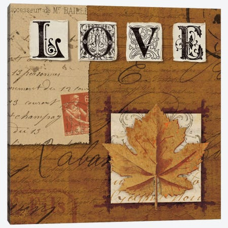 Nature's Journal - Love Canvas Print #WAC1915} by Wild Apple Portfolio Canvas Artwork