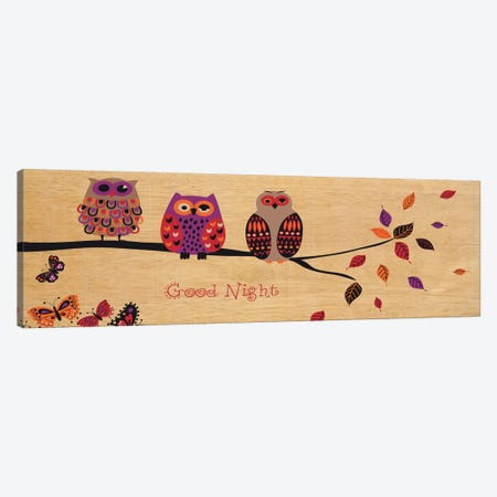 Good Night Owl Canvas Print #WAC1919} by Wild Apple Portfolio Canvas Art Print