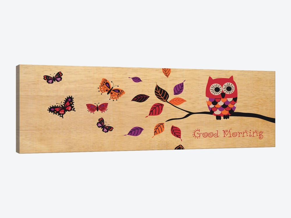 Good Morning Owl by Wild Apple Portfolio 1-piece Canvas Art