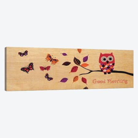 Good Morning Owl Canvas Print #WAC1920} by Wild Apple Portfolio Canvas Wall Art
