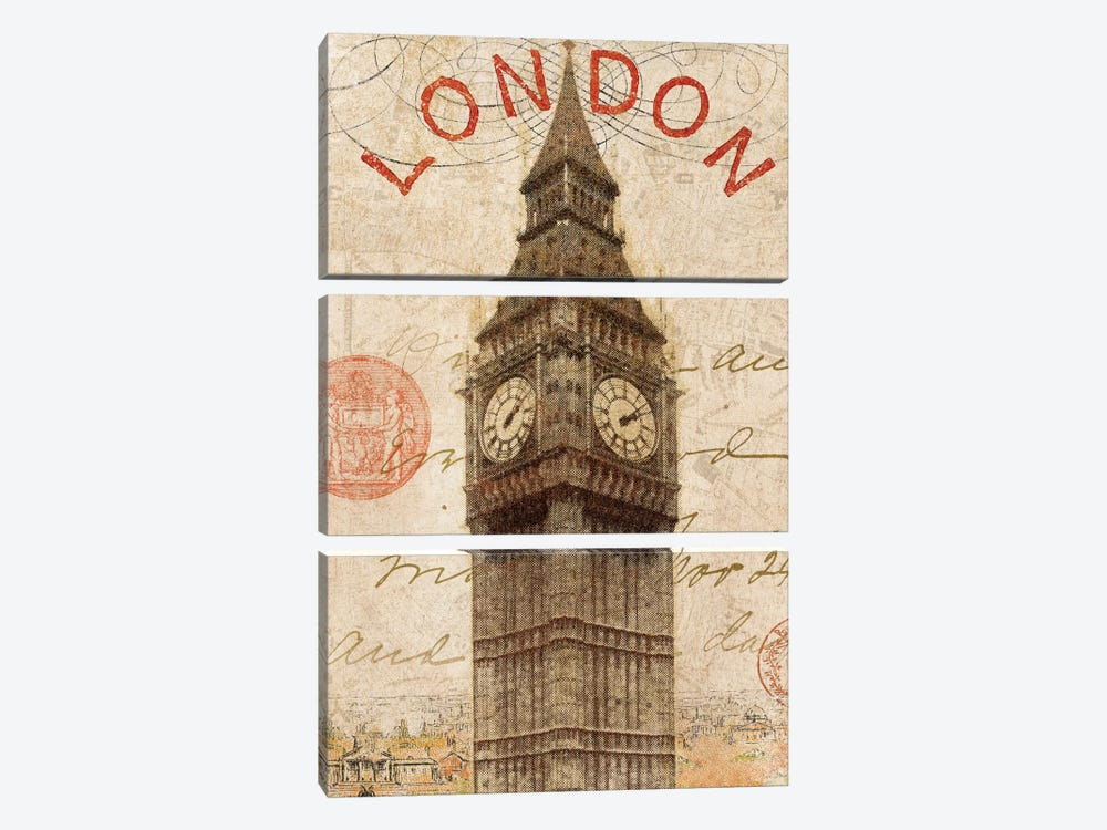 Letter from London by Wild Apple Portfolio 3-piece Art Print