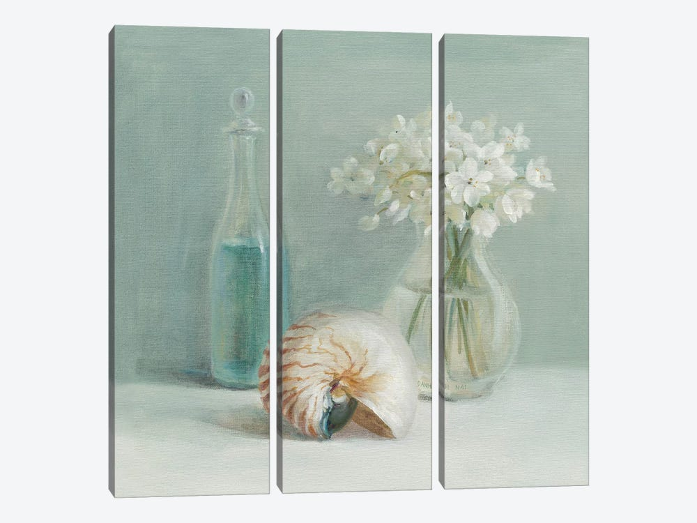 White Flower Spa by Danhui Nai 3-piece Canvas Art