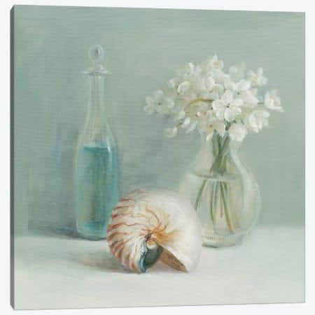 White Flower Spa Canvas Print #WAC192} by Danhui Nai Canvas Wall Art