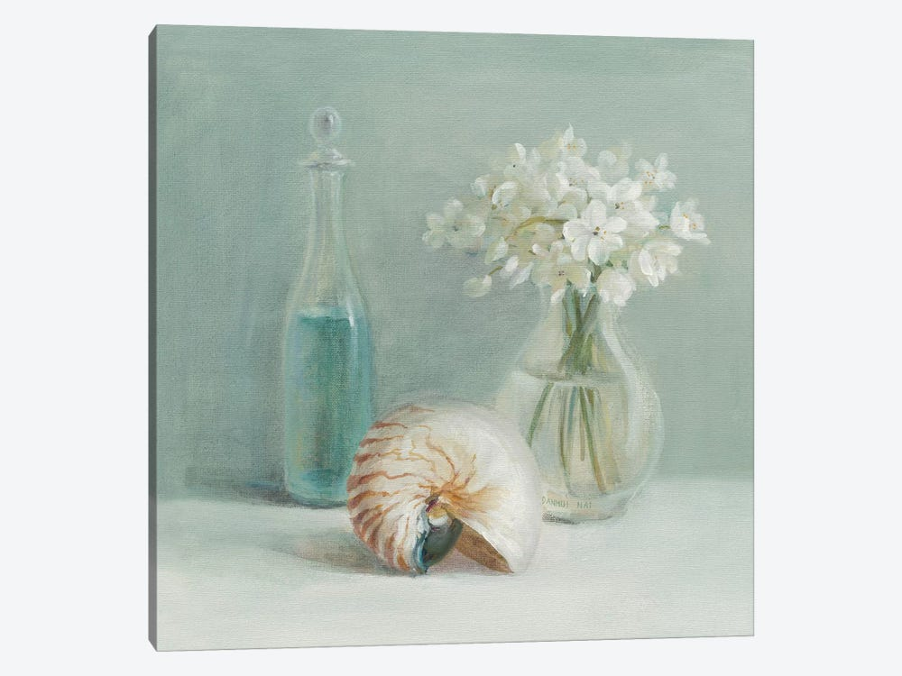 White Flower Spa by Danhui Nai 1-piece Canvas Artwork
