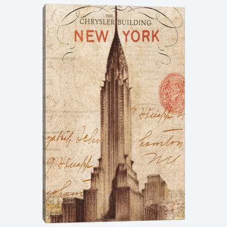 Letter from New York Canvas Print #WAC1930} by Wild Apple Portfolio Canvas Art Print