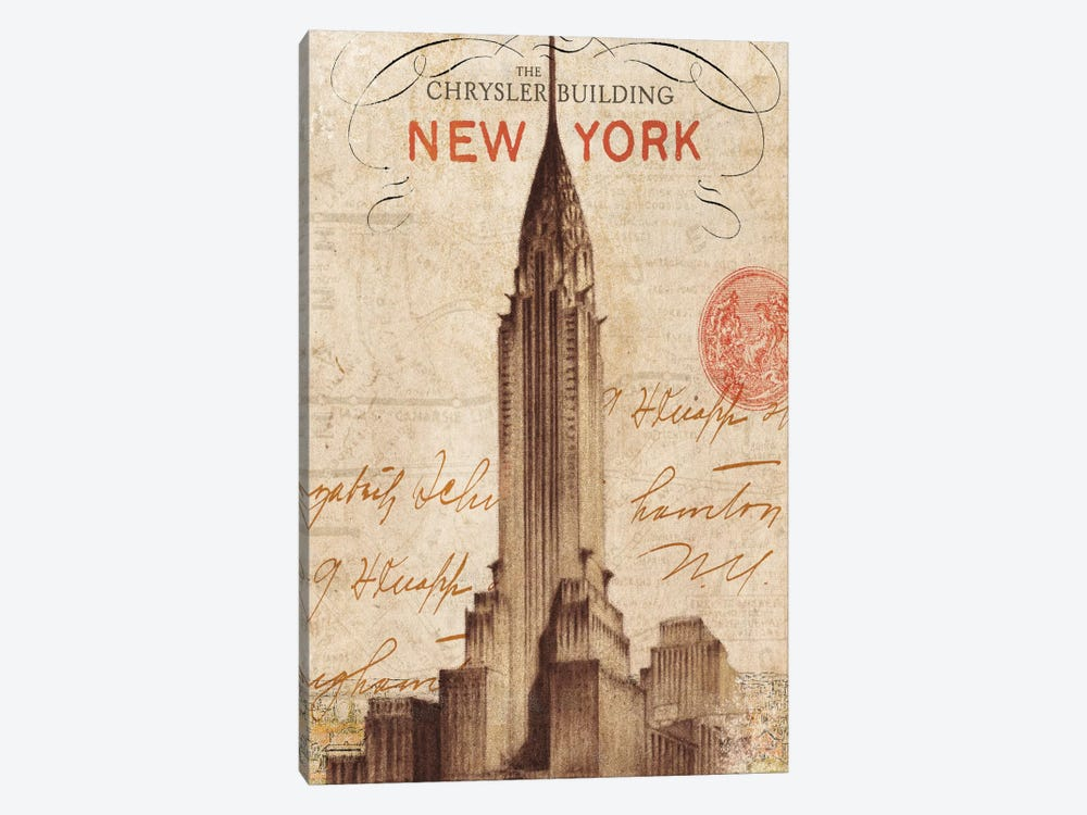 Letter from New York by Wild Apple Portfolio 1-piece Canvas Print