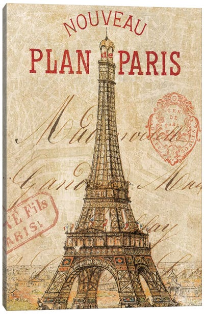 Letter from Paris Canvas Art Print