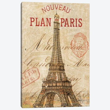 Letter from Paris Canvas Print #WAC1931} by Wild Apple Portfolio Art Print
