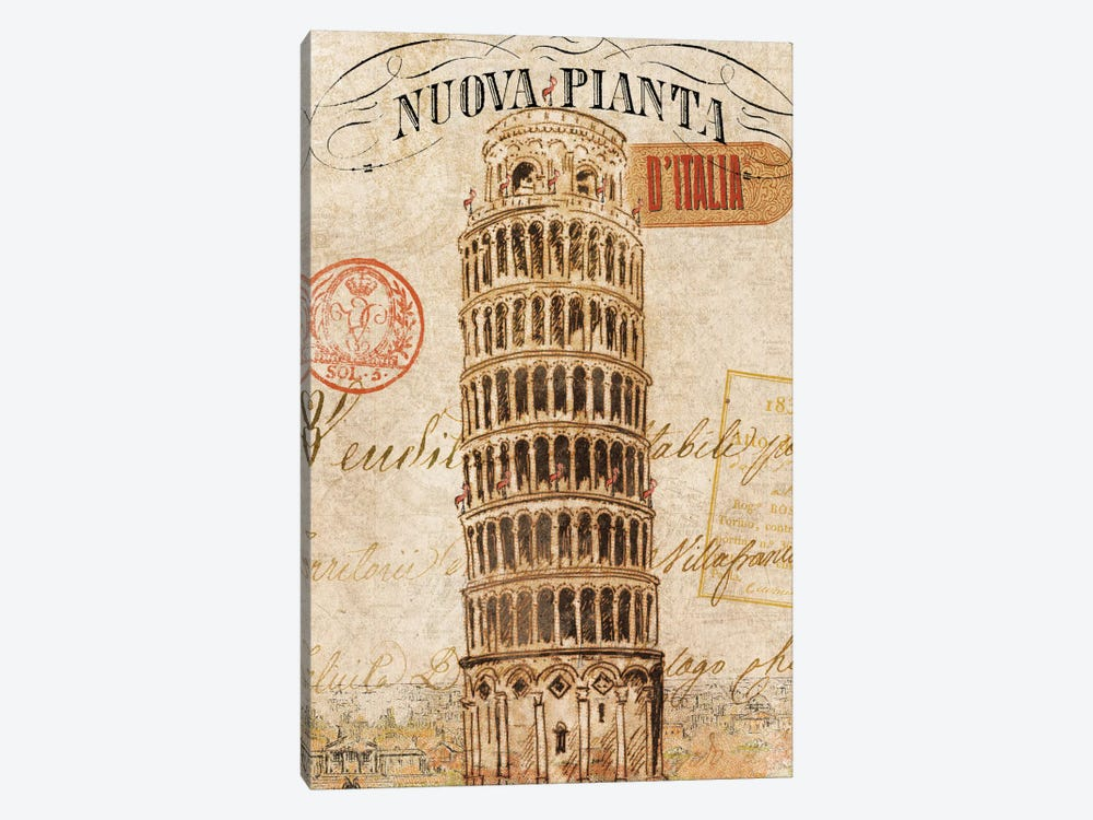 Letter from Pisa by Wild Apple Portfolio 1-piece Canvas Art Print