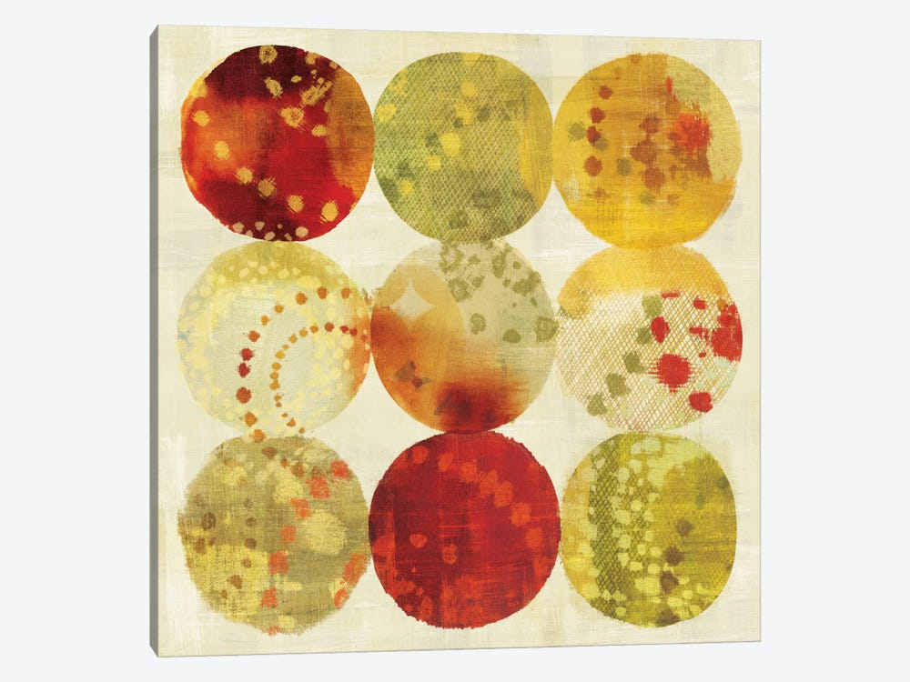 Rain Dots by Wild Apple Portfolio 1-piece Canvas Artwork