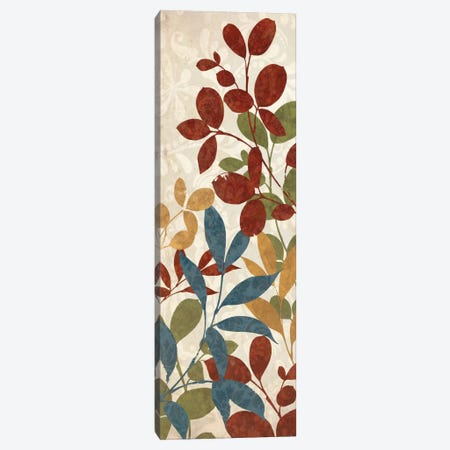 Leaves of Color I Canvas Print #WAC1938} by Wild Apple Portfolio Art Print